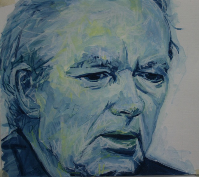 Micheal O'Muircheartaigh, mixed media on paper, 2016