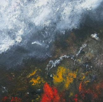 """Black Mountain"", oil on canvas, 50x50cm."