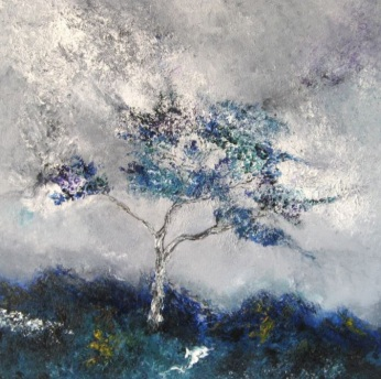 """Blue Ilex"", oil on canvas, 50x50cm."